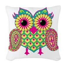 Owl Woven Throw Pillow