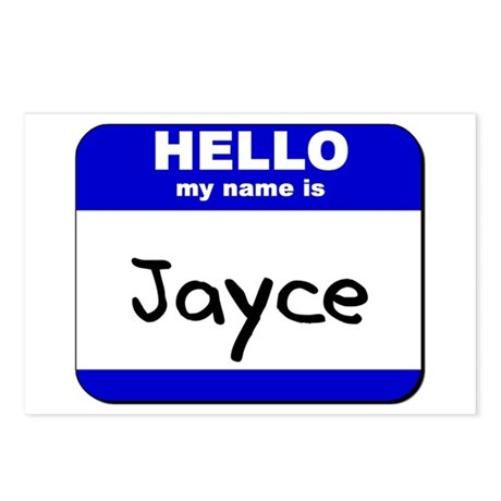 hello my name is jayce Postcards (Package of 8)