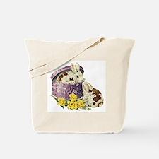 Easter Bunny Daffodils Tote Bag