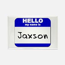 hello my name is jaxson Rectangle Magnet