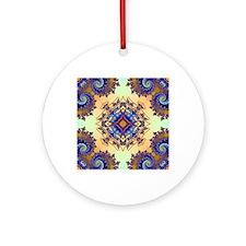 Tsunami Pattern Round Ornament