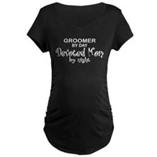 devoted mom wht Maternity T-Shirt