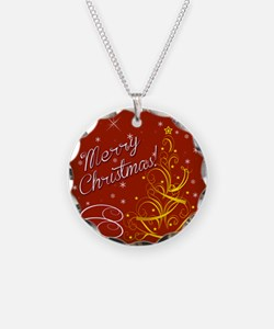 Christmas red scene Necklace
