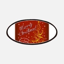 Christmas red scene Patches