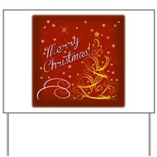 Christmas red scene Yard Sign