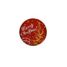 Christmas red scene Mini Button