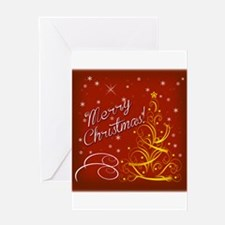 Christmas red scene Greeting Cards
