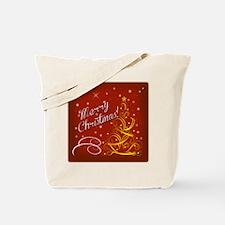 Christmas red scene Tote Bag