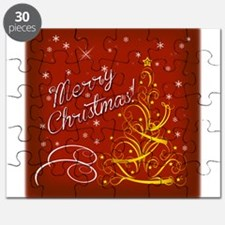 Christmas red scene Puzzle