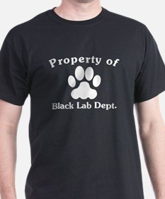 Property Of Black Lab Dept T-Shirt
