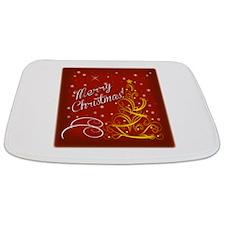 Christmas red scene Bathmat
