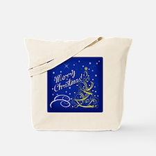 Christmas scene words Tote Bag
