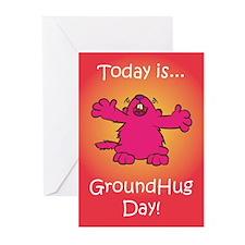 GroundHug Day Greeting Cards (Pk of 10)