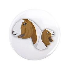 "Boer Goat 3.5"" Button (100 pack)"