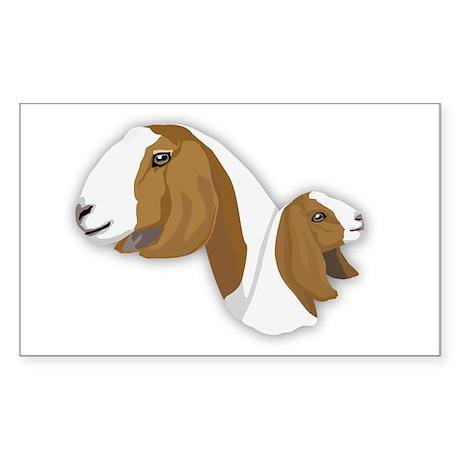 Boer Goat Sticker (Rectangle)