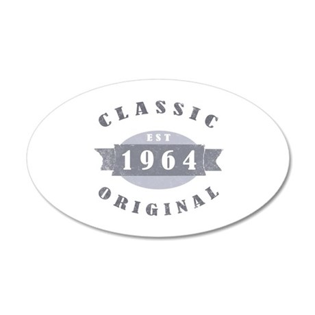 Est. 1964 Classic 35x21 Oval Wall Decal