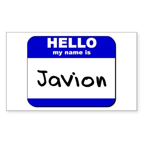 hello my name is javion Rectangle Sticker