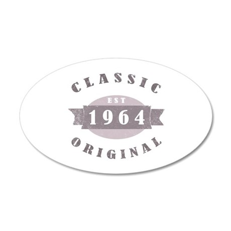 Est. 1964 Classic 20x12 Oval Wall Decal