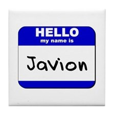 hello my name is javion  Tile Coaster