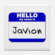 hello my name is javion  Tile Coaster