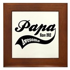 Awesome Papa Since 2012 Framed Tile