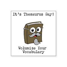 Its Thesaurus Day! Sticker