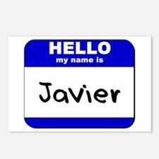 hello my name is javier  Postcards (Package of 8)