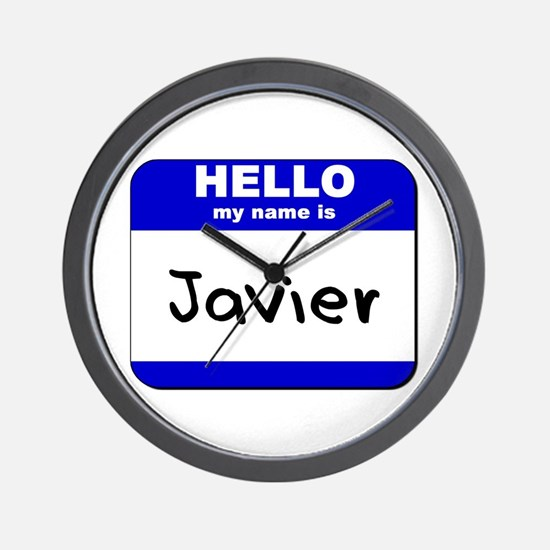 hello my name is javier  Wall Clock