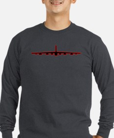B-52 Black Red Long Sleeve T-Shirt
