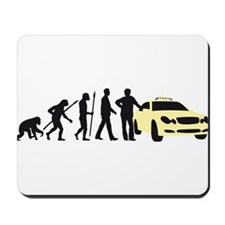 evolution of man taxi driver Mousepad