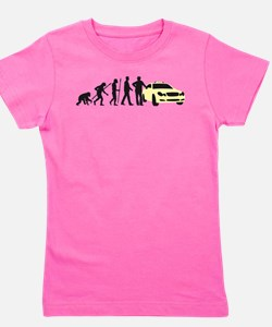 evolution of man taxi driver Girl's Tee