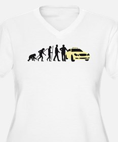 evolution of man taxi driver Plus Size T-Shirt