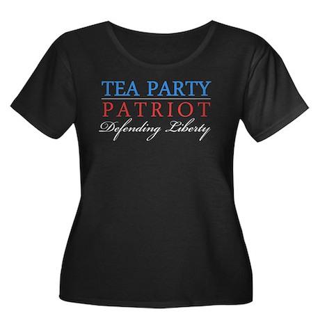 Tea-Party-Patriot-Text-(dark-shirt) Plus Size T-Sh