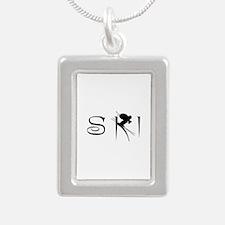 SKI Silver Portrait Necklace