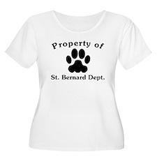 Property Of St. Bernard Dept Plus Size T-Shirt