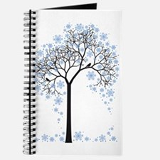 Winter tree with birds Journal