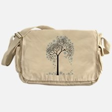 Winter tree with birds Messenger Bag
