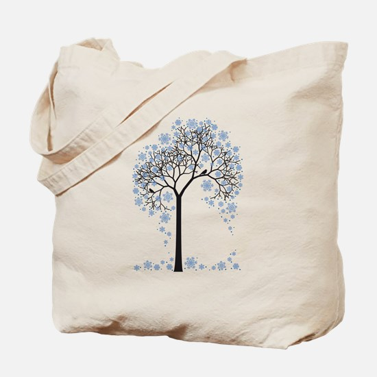 Winter tree with birds Tote Bag