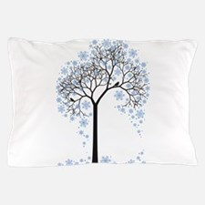 Winter tree with birds Pillow Case