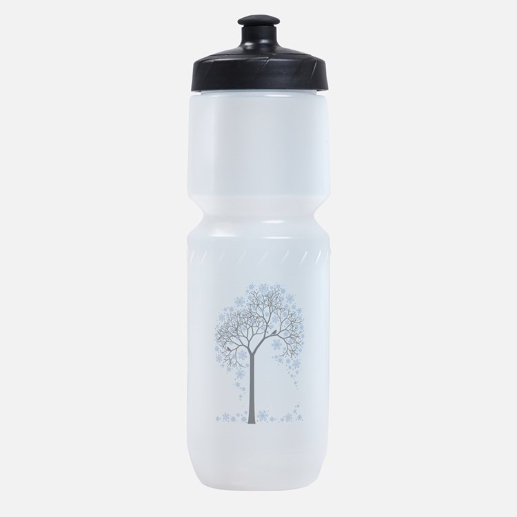 Winter tree with birds Sports Bottle