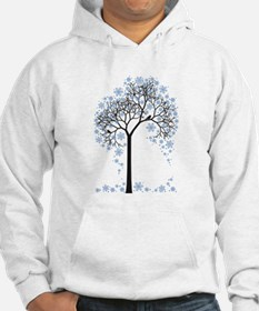 Winter tree with birds Hoodie