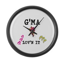 GMA AND LOVN IT Large Wall Clock