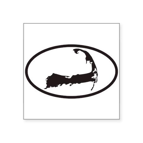 Cape Cod Euro Oval Sticker with Map Sticker