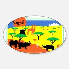 wild animals Oval Decal