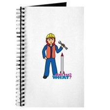 Rocket Scientist Woman Light Red Journal