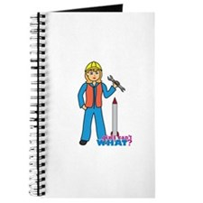 Rocket Scientist Woman Light Blonde Journal