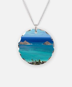 lanikai beach hawaii Necklace Circle Charm