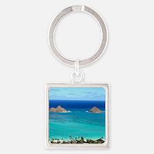 lanikai beach hawaii Square Keychain
