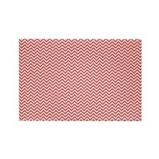Red and White Chevron Magnets