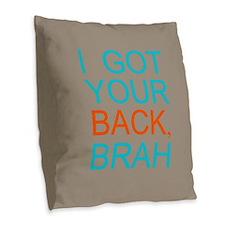 Got Your Back Burlap Throw Pillow